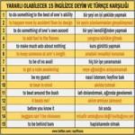 Önemli ingilizce deyimler ve türkçe anlamları