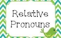 relative pronouns-ilgi zamirleri